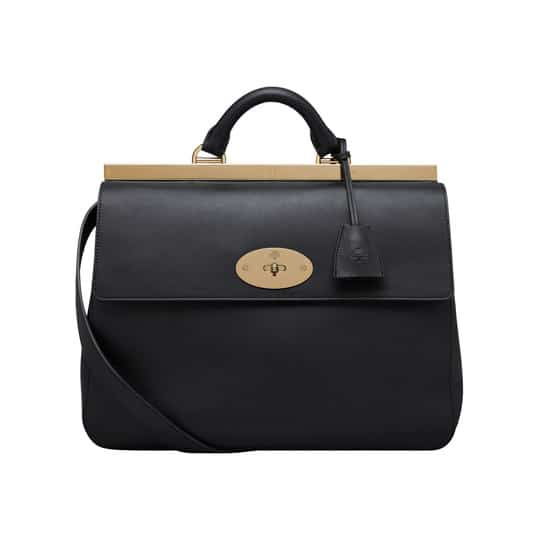 Mulberry Black Classic Calf Suffolk Bag