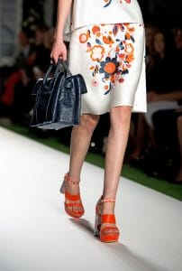 Mulberry Black Ostrich Double Sided Bayswater Bag - Runway Spring 2014