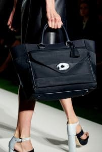 Mulberry Black Striped Willow Tote Bag - Runway Spring 2014