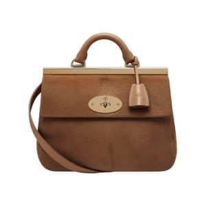 Mulberry Deer Brown Hair Calf Suffolk Small Bag