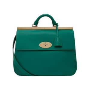 Mulberry Emerald Classic Calf Suffolk Bag