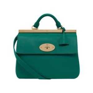 Mulberry Emerald Classic Calf Suffolk Small Bag