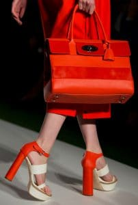Mulberry Fiery Red Bayswater with Stripes Bag - Runway Spring 2014
