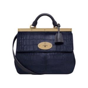 Mulberry Midnight Blue Printed Hair Calf Suffolk Small Bag