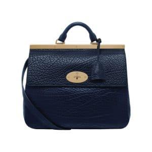Mulberry Midnight Blue Shrunken Calf Suffolk Bag