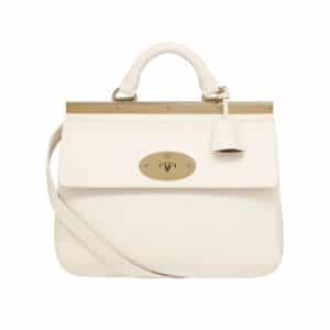 Mulberry Off White Classic Calf Suffolk Small Bag