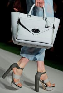 Mulberry Summer Blue Striped Willow Bag - Runway Spring 2014