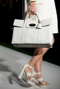 Mulberry White Double Sided Bayswater Bag - Runway Spring 2014