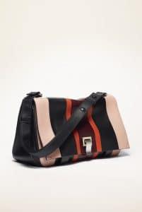 Proenza Schouler Black/Beige Patchwork PS Courier Bag