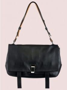 Proenza Schouler Black/Krishna Double Sided Leather PS Courier Bag