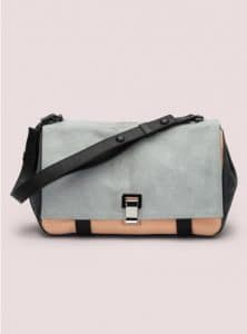 Proenza Schouler Charcoal Pony PS Courier Bag
