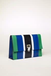 Proenza Schouler Cricket/Royal Blue Patchwork Small Lunch Bag