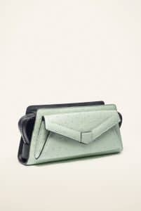 Proenza Schouler Mint/Black Ostrich PS13 Crossbody Bag