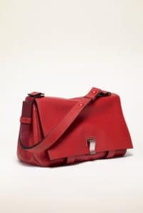 Proenza Schouler Poppy/Chianti Double Sided Leather PS Courier Bag