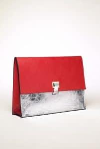 Proenza Schouler Poppy/Silver Large Lunch Bag