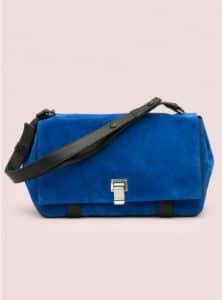 Proenza Schouler Royal Blue:Black Suede PS Courier Bag