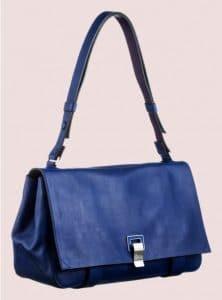 Proenza Schouler Royal Blue:Veruca Salt Double Sided Leather PS Courier Bag 1