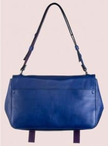 Proenza Schouler Royal Blue:Veruca Salt Double Sided Leather PS Courier Bag 2