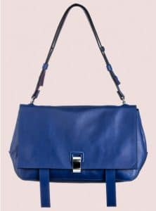 Proenza Schouler Royal Blue/Veruca Salt Double Sided Leather PS Courier Bag