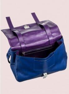 Proenza Schouler Royal Blue:Veruca Salt Double Sided Leather PS Courier Bag 3