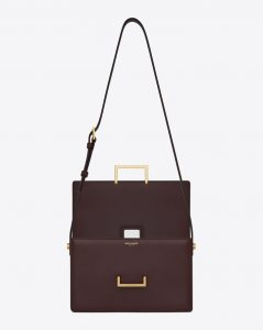 Saint Laurent Bordeaux Lulu Medium Bag 1
