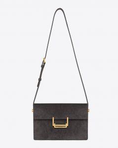 Saint Laurent Earth Suede Lulu Medium Bag