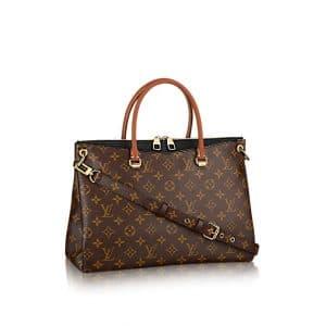 Louis Vuitton Black Pallas Bag