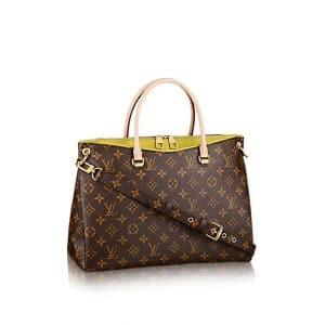 Louis Vuitton Pistache Yellow Pallas MM Bag