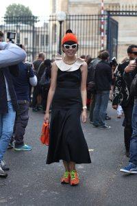 Susie Lau of Susie Bubble spotted at Paris Fashion Week Spring 2014