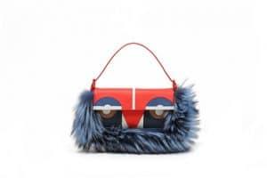 Fendi Blue Multicolor Monster Baguette Bag