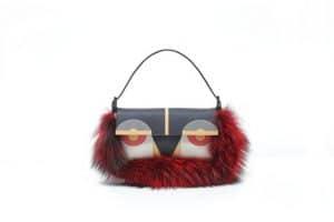 Fendi Poppy Multicolor Monster Baguette Bag