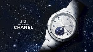 Chanel White J12 Moonphase watch