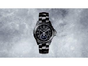 Chanel Black J12 Moonphase Watch