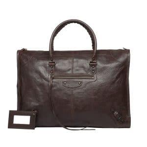 Balenciaga Cigare Fonce Classic Weekender Bag