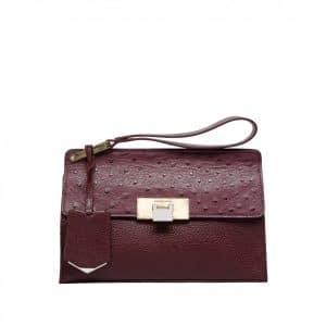 Balenciaga Ostrich Le Dix Clutch Bag - Resort 2014