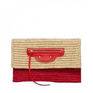 Balenciaga Raffia City Clutch Bag - Resort 2014