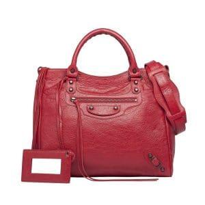 Balenciaga Rouge Cardinal Classic Velo Bag