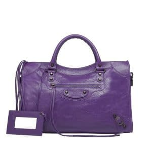 Balenciaga Ultraviolet Classic City Bag