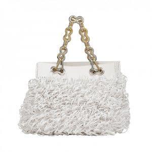 Balenciaga White Chain Tote Bag Resort 2014