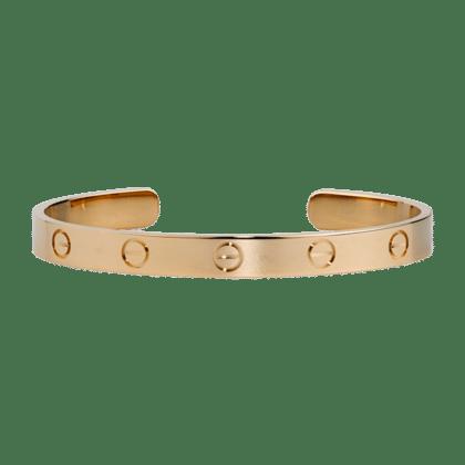 Cartier Pink Gold Open Love Bracelet