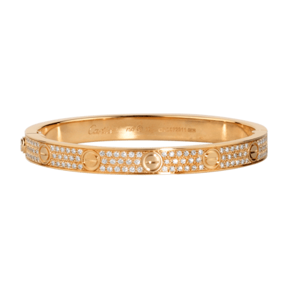 Cartier Pink Gold with Diamonds Love Bracelet