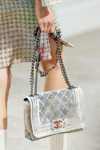 Chanel Canvas Airbrushed CC Boy Bag - Spring 2014 Runway