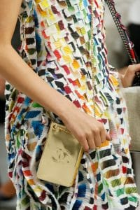 Chanel Gold Pouch CC Messenger Bag - Spring 2014 Runway