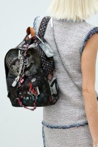 Chanel Graffiti Logo Backpack - Spring 2014 Runway