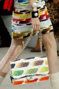 Chanel Jumbo Painted Canvas Flap Bag - Spring 2014 runway