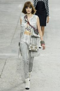 Chanel Lego Clutch Grey and White - Spring 2014 Runway
