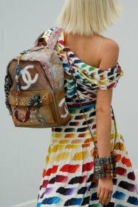 Chanel Multicolor CC Backpack - Spring 2014 Runway