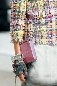 Chanel Pink Logo CC Pouch Messenger bag patent - Spring 2014 Runway