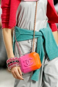 Chanel Plexi Orange and Red Bag - Spring 2014 Runway 2