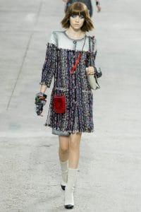 Chanel Vertical Pouch Red Velvet Bag - Spring 2014 Runway